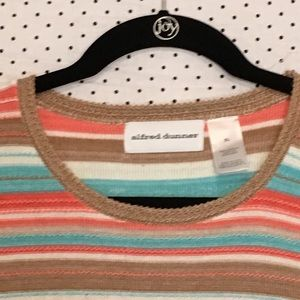 Alfred Dunner Tops - Alfred Dunner Striped Short Sleeve Knit Blouse